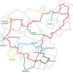 mapka pogl•dowa szlaku ziemi ąukowskiej